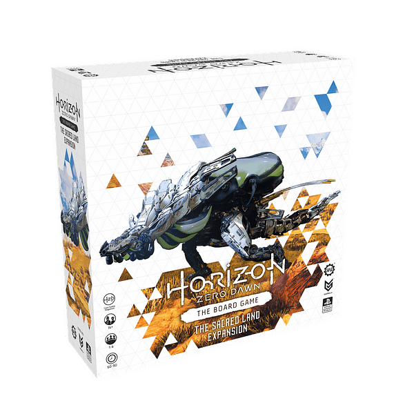 The box for Steamforged Games'first-ever expansion set for their board game, Horizon Zero Dawn: The Board Game.