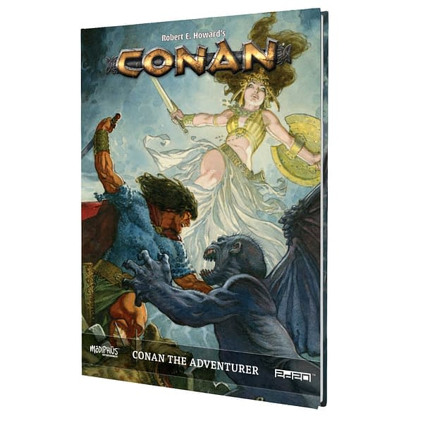 The front cover of the setting book, Conan the Adventurer, for the Conan RPG by Modiphius Entertainment.