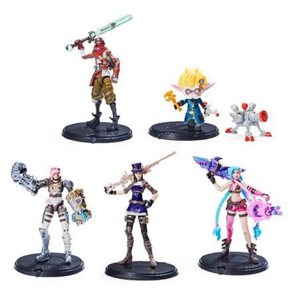 """An array of the 5-pack from the """"Champion Collection"""" of League of Legends figures by Spin Master, available for preorder at Target."""