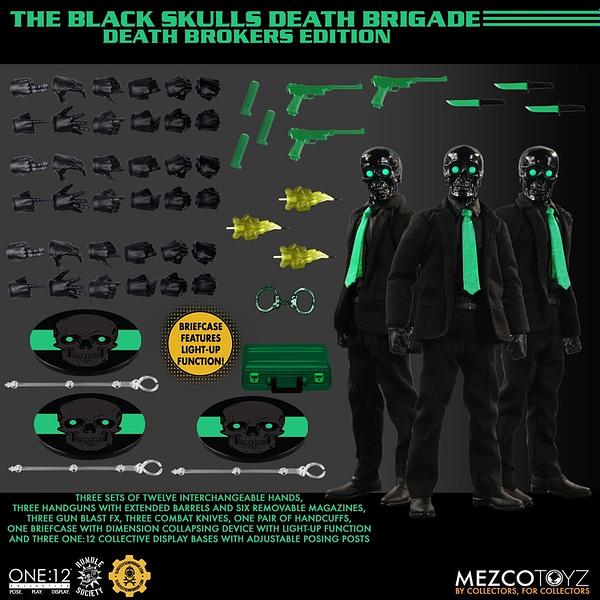 Mezco Toyz MezCon 2021 Secret Drop: Black Skulls Death Brokers