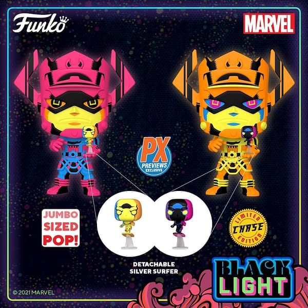 Galactus Receives Funko Black Light Treatment With PX Exclusive Pop