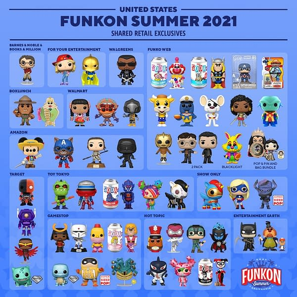 Funko Ends FunKon 2021 Reveals With Shared Retailer Exclusives List