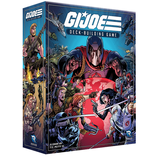 A look at the box for the G.I. Joe Deck-Building Game, courtesy of Renegade Game Studios.