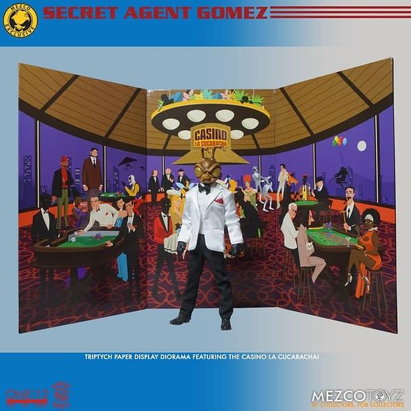 Mezco Toyz Reveals Summer Exclusive One: 12 Secret Agent Gomez