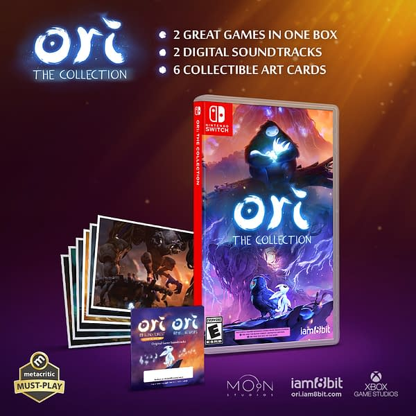 A look at the contents for Ori: The Collection, courtesy of iam8bit.