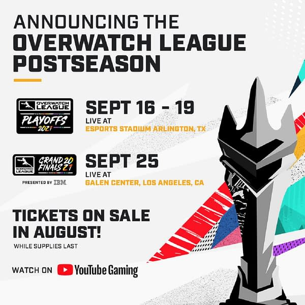 A promo for the return of live events for Overwatch League, courtesy of Activision-Blizzard.