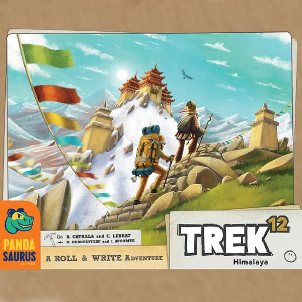 Trek 12, a game by Pandasaurus Games, in which players make the expedition up the Himalayan mountain range. This game is slated for release in November 2021.