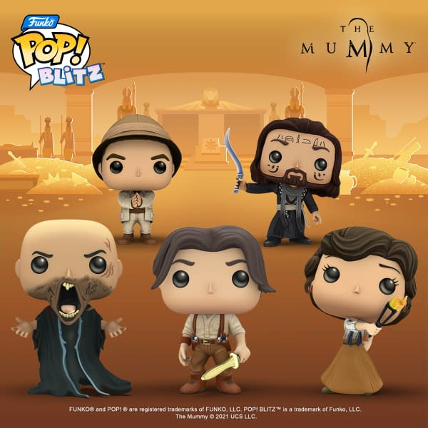 A look at the characters from The Mummy coming to Funko Pop! Blitz, courtesy of N3TWORK.
