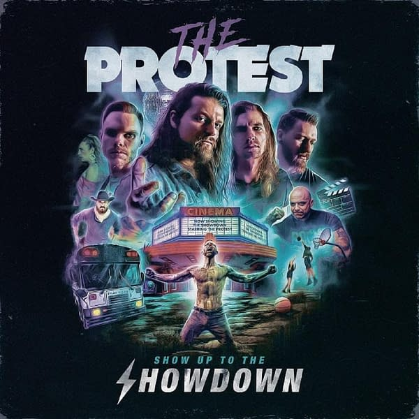 """The cover of the single for """"Show Up To The Showdown"""" by Indiana-based rockers The Protest, a track also featured in their upcoming EP, Death Stare, out August 27th."""
