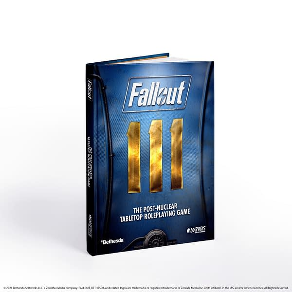 The core rulebook for Fallout: The Roleplaying Game, a tabletop role-playing game by Modiphius Entertainment.