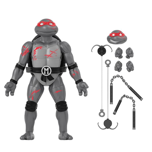 The Loyal Subjects B&W Battle Damaged TMNT 4-Pack Arrives