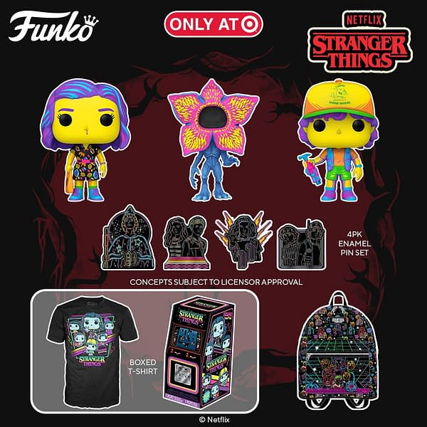 Stranger Things Black Light Funko Pops Debut and Sold Out Instantly