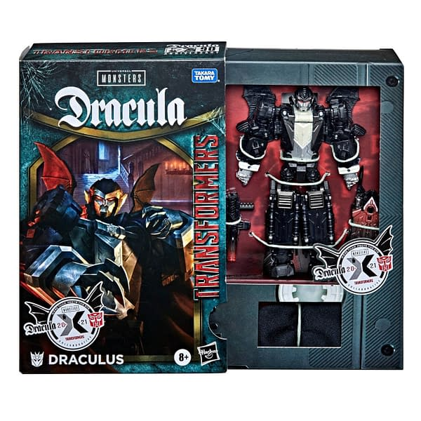 Dracula Arises With Transformers x Universal Monsters Crossover Figure