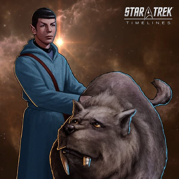 A look at Young Spock and I-Chaya in Star Trek Timelines, courtesy of Tilting Point.