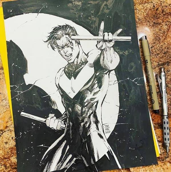 jim lee nightwing sketch