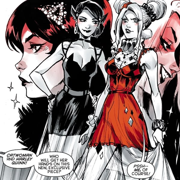 Mirka Andolfo New Cosplay Look for Harley Quinn in Black, White & Red.