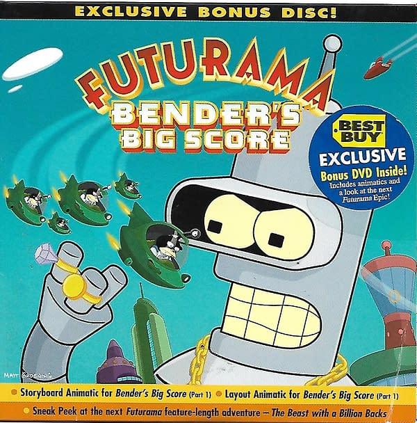 Futurama Bender's Big Score Best Buy DVD Cover