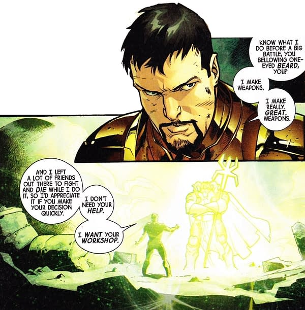 Staying In Character In Fear Itself #5 For Iron Man, Thor, Captain America And Spider-Man