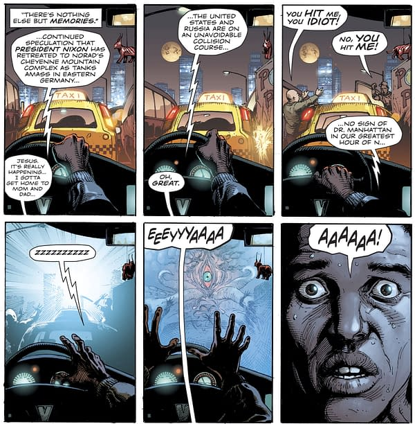 As the Justice Society Of America Comes to Doomsday Clock #3 – Who Is Rorschach and How Did a Certain Someone Survive? SPOILERS