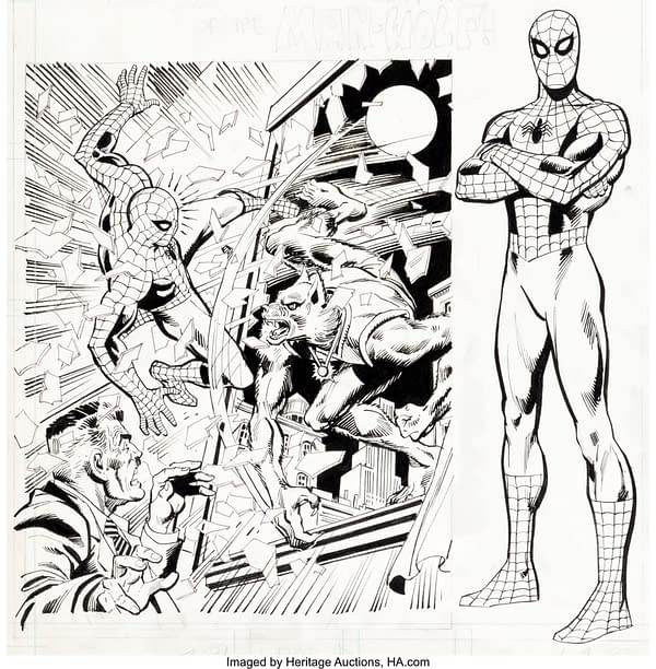 Unused Spider-Man Record Art By Rich Buckler Up For Auction Today