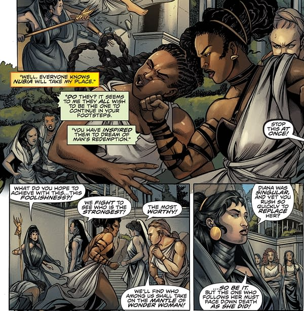 Nubia And Hippolyta's Wonder Woman Role In DC Infinite Frontier #0