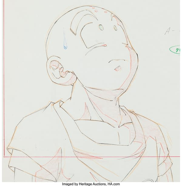 Krillin from Dragon Ball Z Original Artwork. Credit: Heritage Auctions