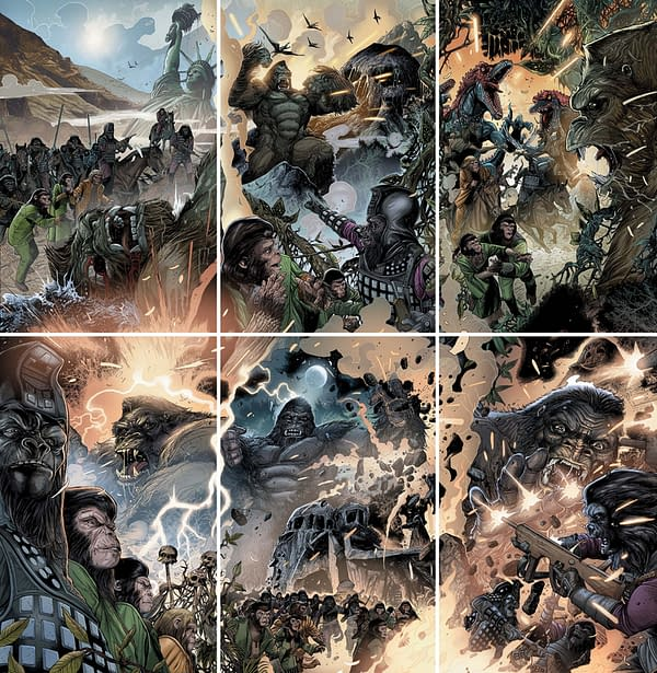 All 6 Connecting Covers To King On On The Planet Of The Apes From Carlos Magno