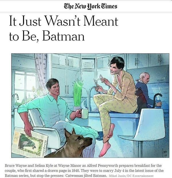 Warning: The New York Times Spoils the Batman #50 Batwedding Today
