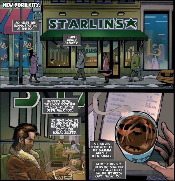 Starlin's Is Now A Coffee Store Chain in Immortal Hulk #43
