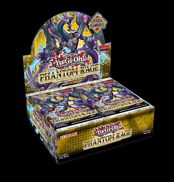 A look at the packaging for Yu-Gi-Oh! TCG Phantom Rage, courtesy of Konami.