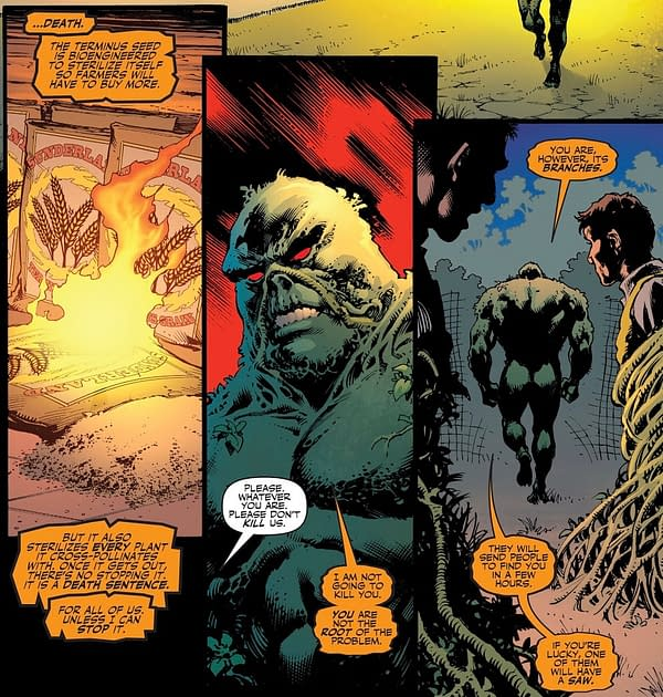 Swamp Thing Tries To Take Immortal Hulk's Clothes Back.
