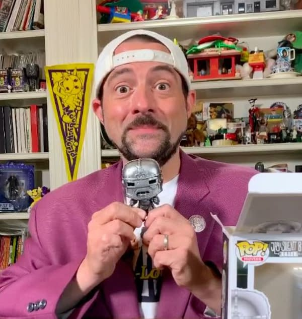 Kevin Smith Unveils Funko POP Online at Comic-Con@Home.