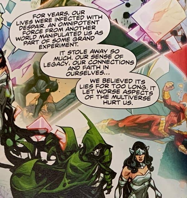 Wonder Woman on Dr Manhattan - or Dan DiDio? Infinite Frontier #0