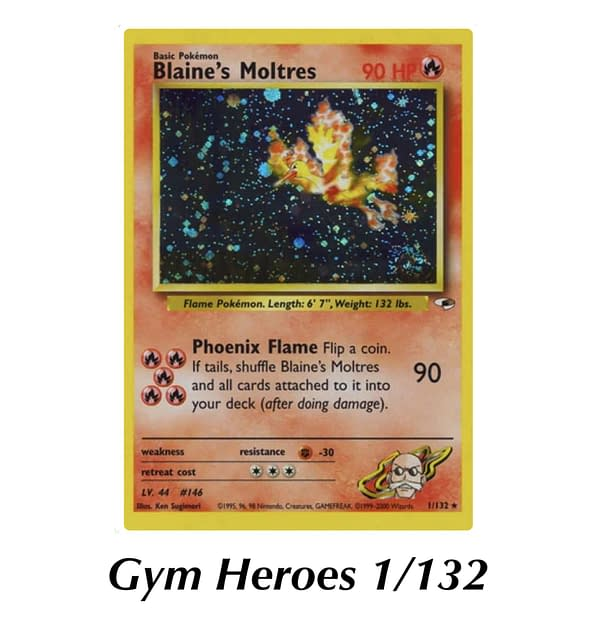 Gym Heroes Blaine's Moltres. Credit: WOTC