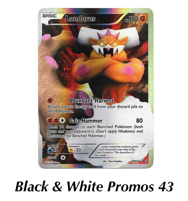 Black & White Promo Landorus. Credit: TPCI
