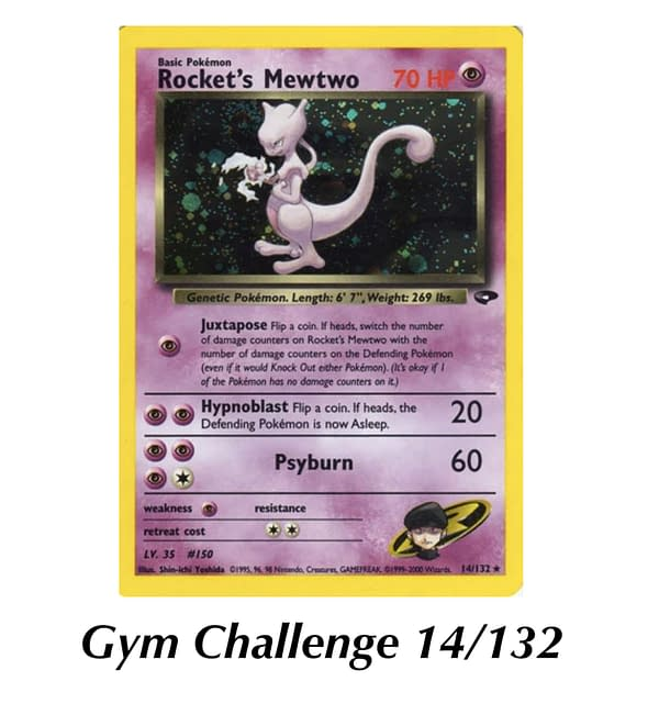 Gym Challenge Rocket's Mewtwo. Credit: WOTC