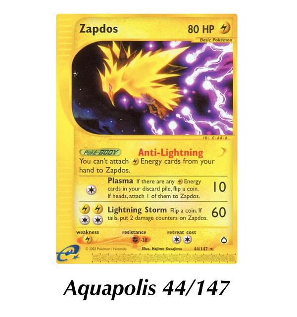 Aquapolis Zapdos. Credit: Pokémon TCG