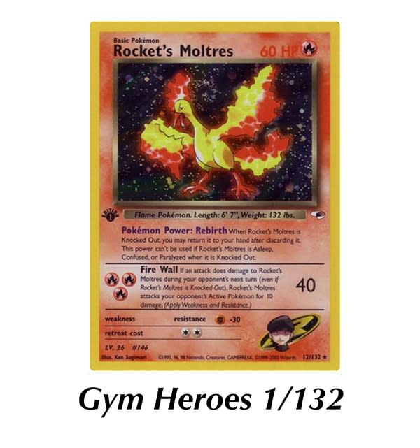 Gym Heroes Rocket's Moltres. Credit: WOTC