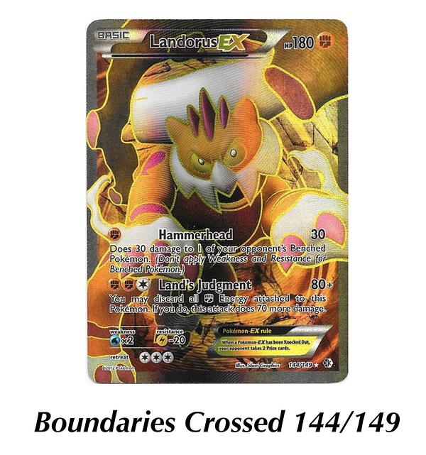 Boundaries Crossed Landorus. Credit: Pokémon TCG