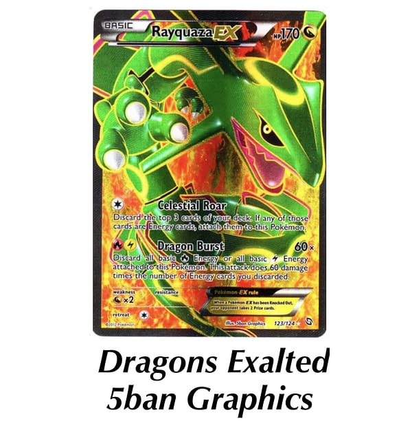Dragons Exalted Rayquaza. Credit: TPCI
