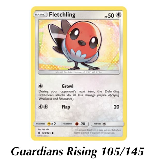 Guardians Rising Fletchling card. Credit: TPCI
