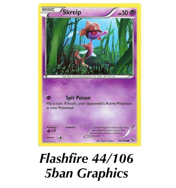 Flashfire Skrelp. Credit: Pokémon TCG
