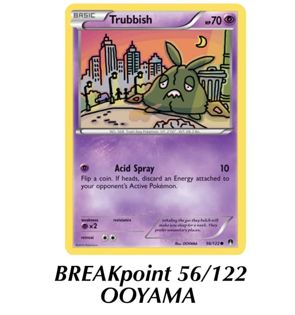 BREAKpoint Trubbish. Credit: Pokémon TCG