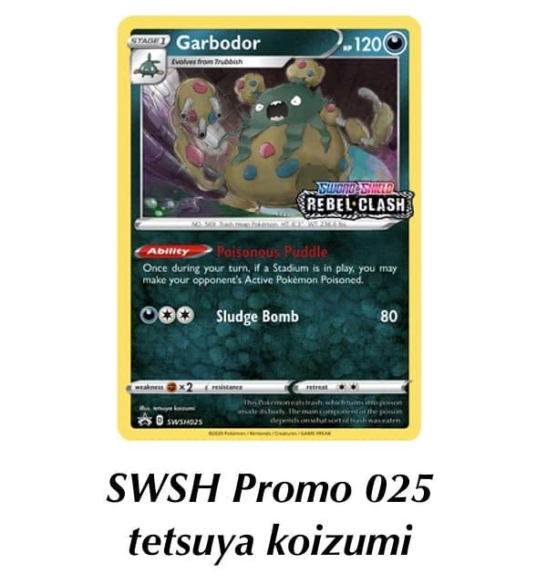 SWSH Promo Garbodor. Credit: TPCI