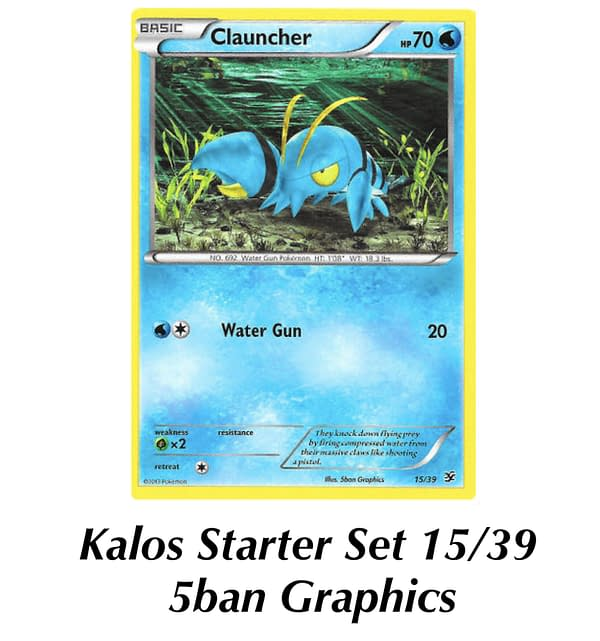 Kalos Starter Set Clauncher. Credit: Pokémon TCG