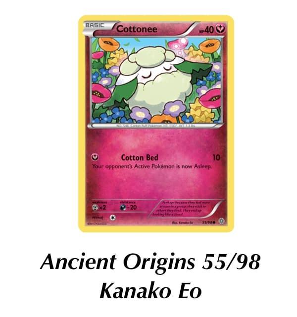 Ancient Origins Cottonee. Credit: Pokémon TCG