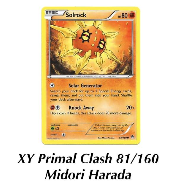 XY Primal Clash Solrock. Credit: Pokémon TCG
