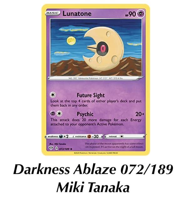Sword & Shield - Vivid Voltage Lunatone. Credit: Pokémon TCG