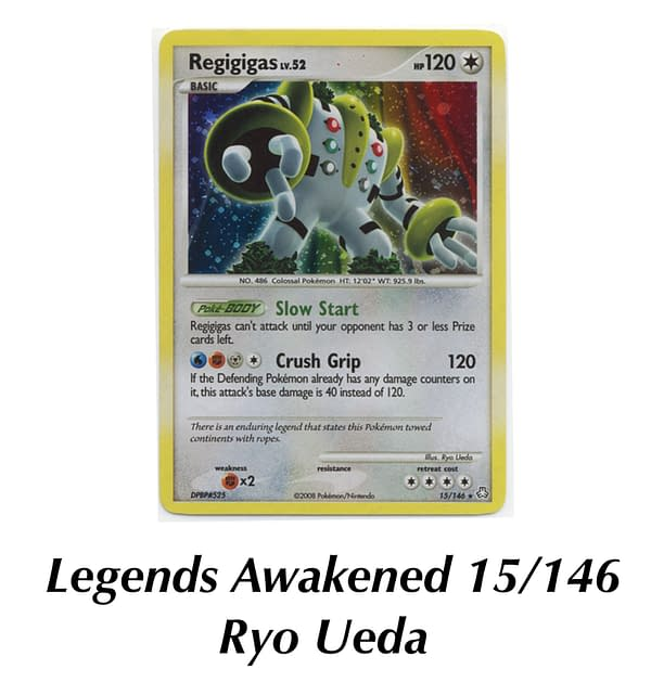 Legends Awakened Regigigas. Credit: Pokémon TCG