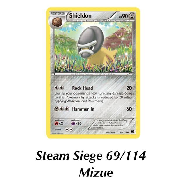 Steam Siege Shieldon. Credit: Pokémon TCG